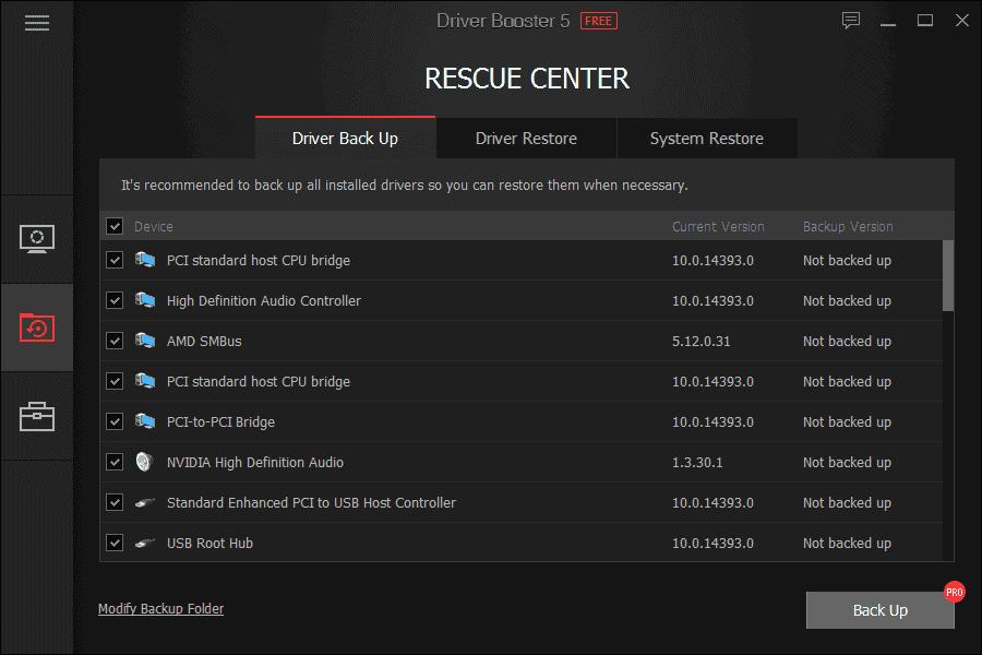 Driver Booster Rescue Center