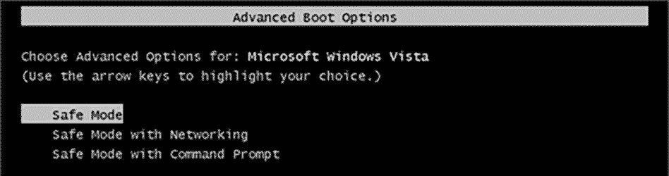 Boot safe mode windows