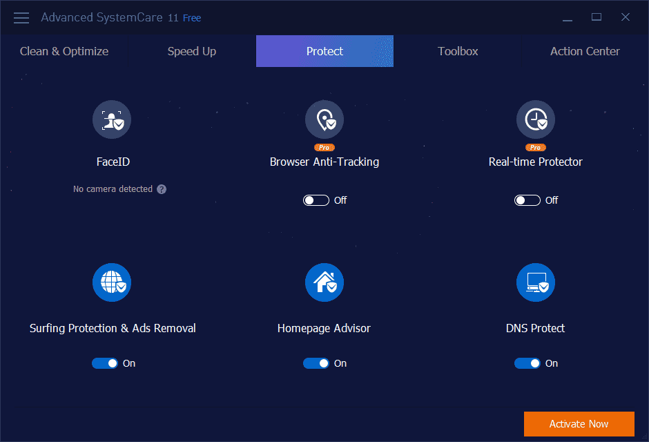 Advanced SystemCare Pro 11 Privacy and Secuity Features
