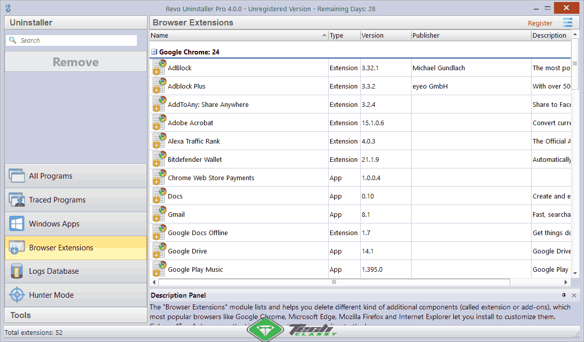 Browser-Extentions-remover revo uninstaller