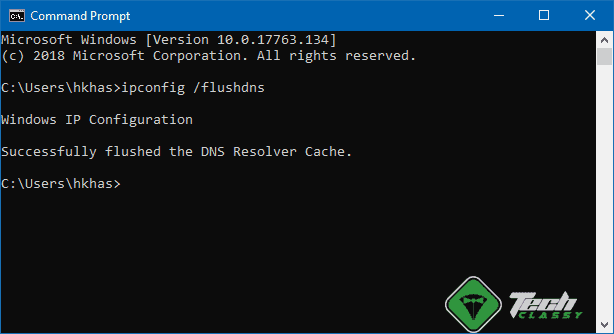 Flush DNS Command Prompt Windows 10