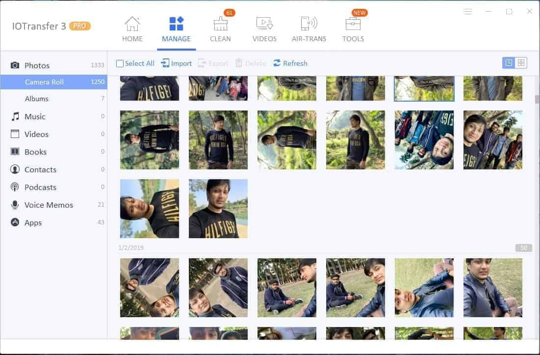 IOTransfer Photo Manager