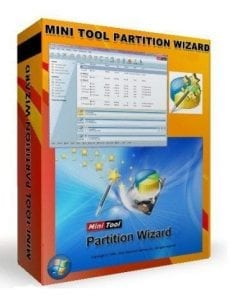 Minitool partition wizard box
