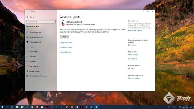 Fix Update Error 0x80070426 – Windows and Store Apps Update Problem