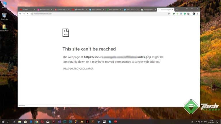 Fix ERR_SPDY_PROTOCOL_ERROR on Chrome [Most Working Methods]