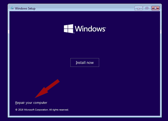 Windows 10 Repair Your Computer Using Bootable Media