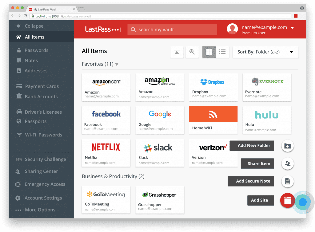 LastPass Screenshot 1