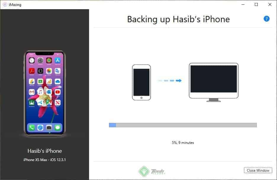 Backup iPhone using a third-party iPhone Manager