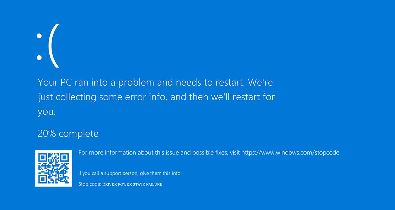 Screenshot Driver Power State Failure