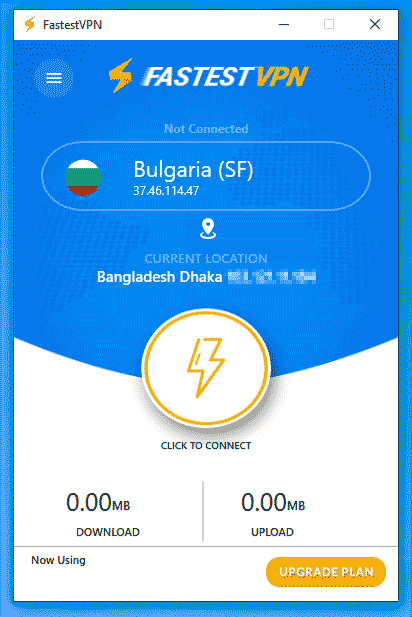 FastestVPN Desktop app