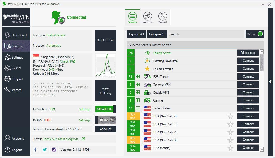 ibVPN Desktop App