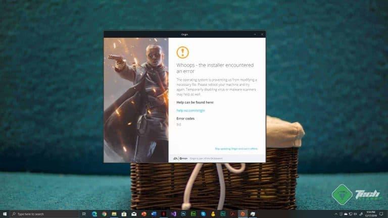 How to Fix Origin Error 9:0 on Windows 10