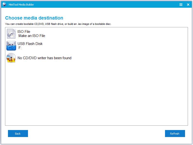 MiniTool Media Builder Screenshot