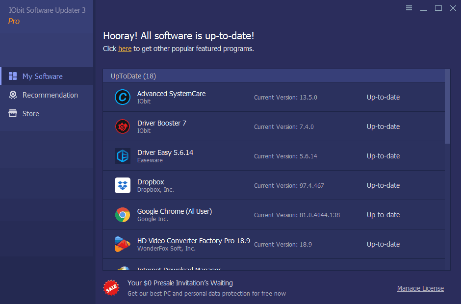 IObit Software Updater Screenshot 1