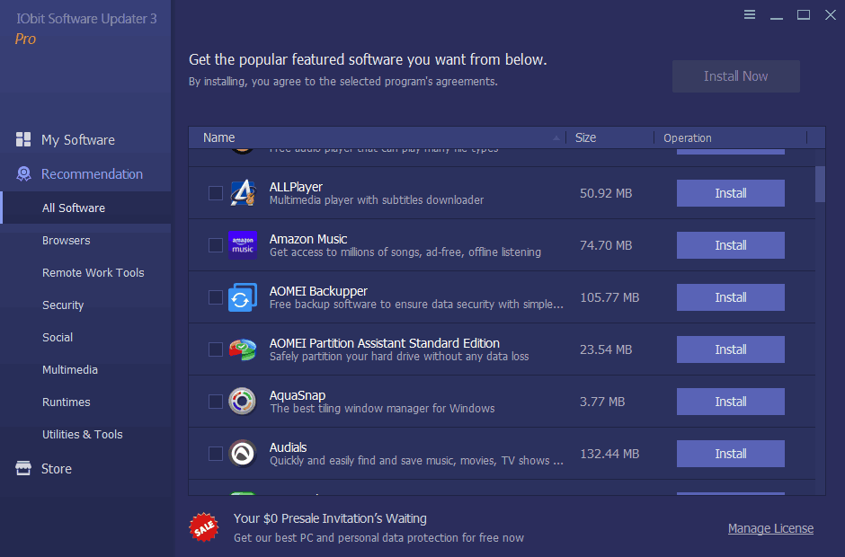 IObit Software Updater Screenshot 2