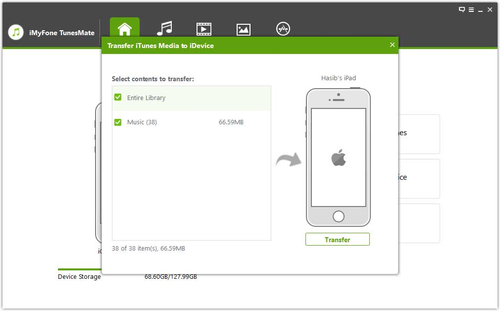 Transferring iTunes Media to iPhone/iPad/iPod by TunesMate