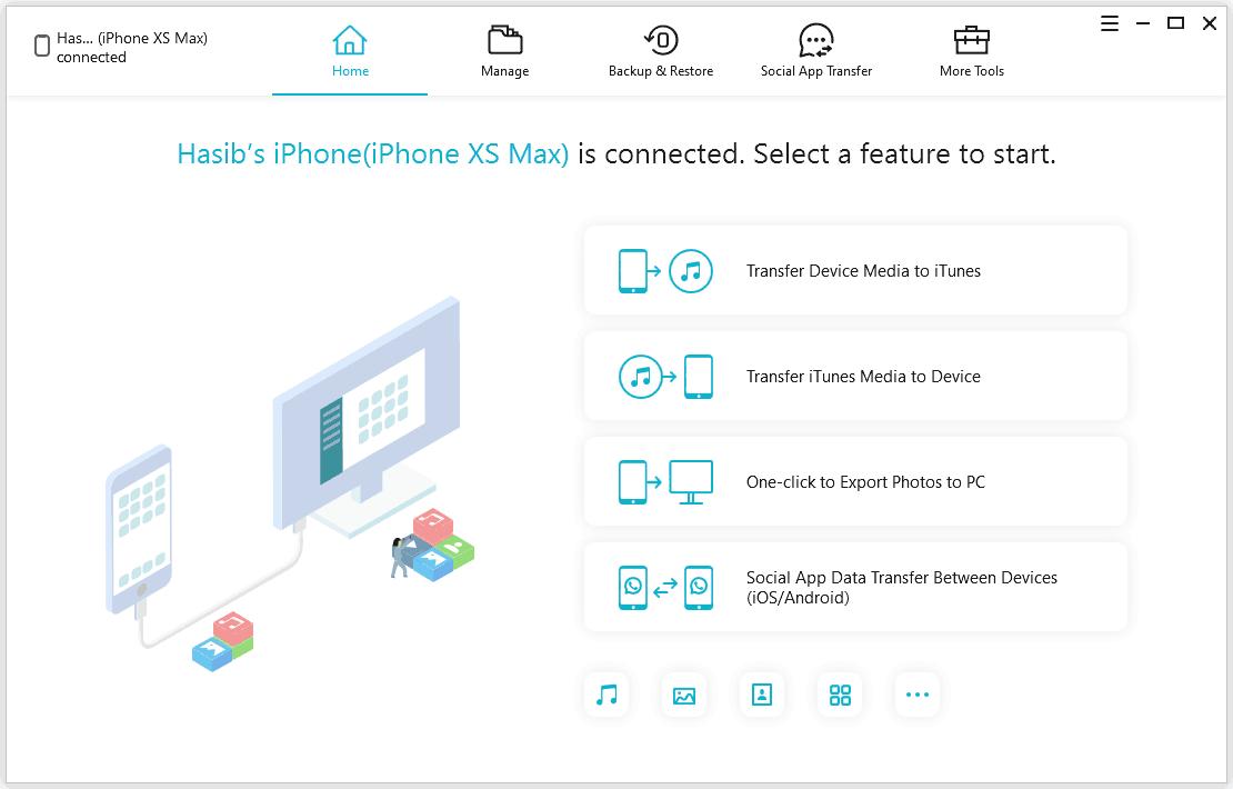 TenorShare iCareFone Interface