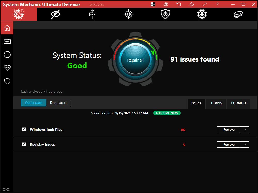 System Mechanic Ultimate Defense Screenshot 1