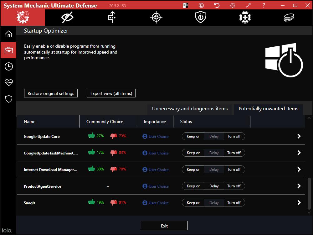 System Mechanic Startup Optimizer