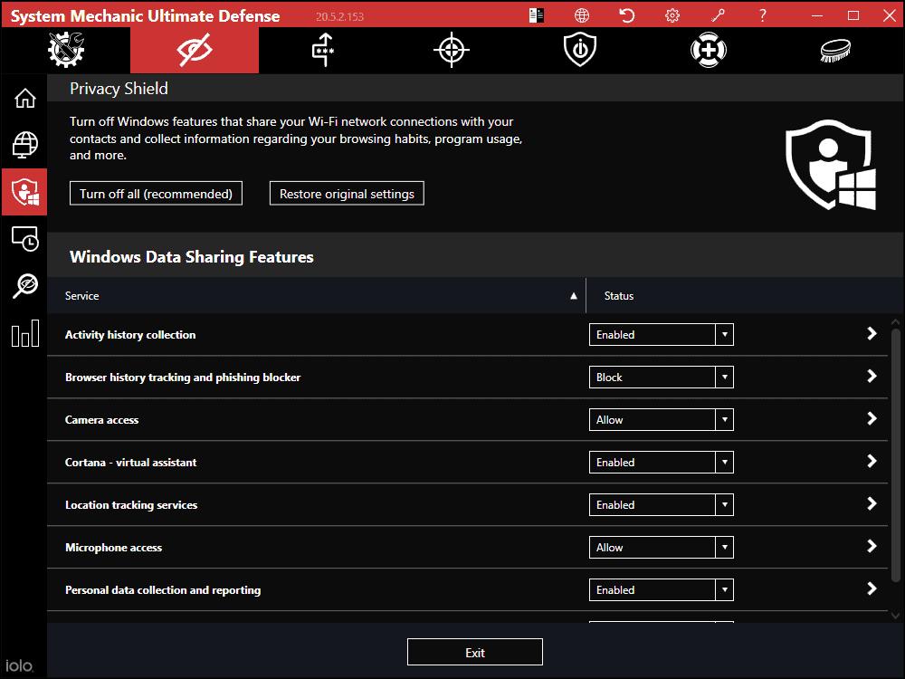 Privacy Shield: System Mechanic UD
