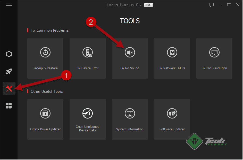 Launch Driver Booster Audio Troubleshooter
